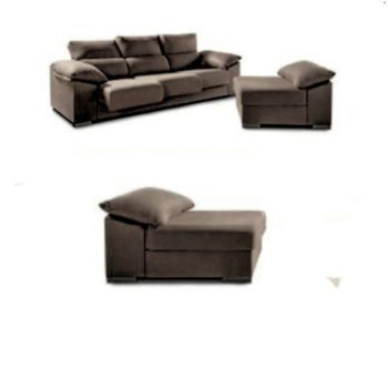 Bosso 3 Seat Sofa with Pouff