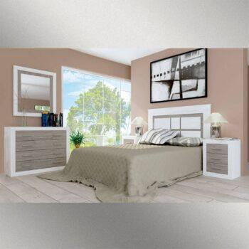 Lara White-Grey Bedside