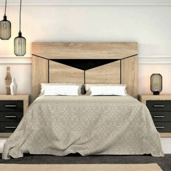 Ada Oak /Graphite Headboard