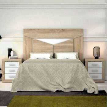 Ada Oak /White Headboard