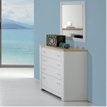 Florenca 4 Drawer White