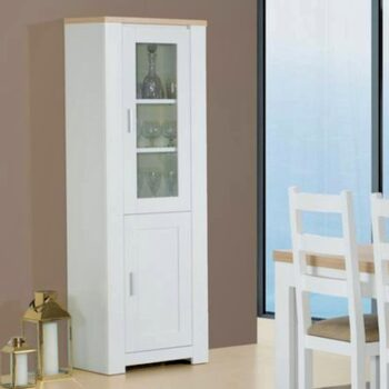 Florenca White/Oak 2 Door Cabinet