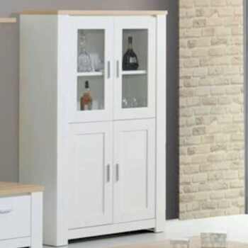 Florenca White/Oak 4 Door Display
