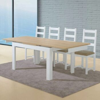 Florenca White/Oak Ext Dining Table