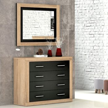 Lara Oak/Graphite Chest