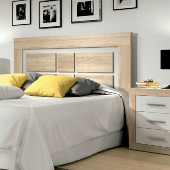 Lara Headboard Oak/White