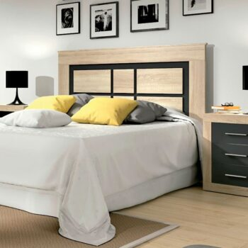 Lara Headboard Oak/Graphite