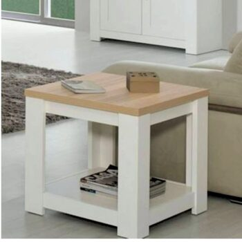 Florenca White/Oak Lamp Table