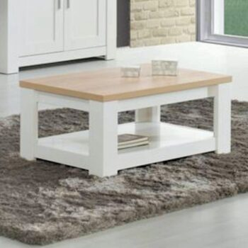 Florenca White/Oak Coffee Table