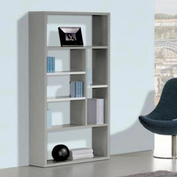 Viena White /Grey Wide Bookcase