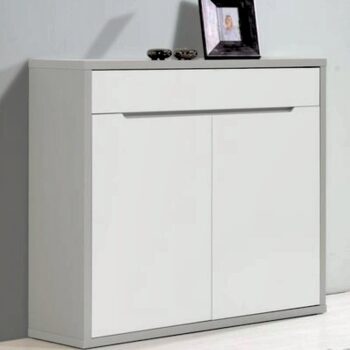 Viena White /Grey Shoe Cupboard
