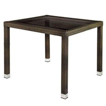 Marlene 90cm Table – Brown