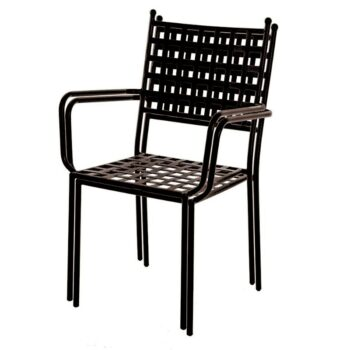 Cartago Chair with Arms – Black