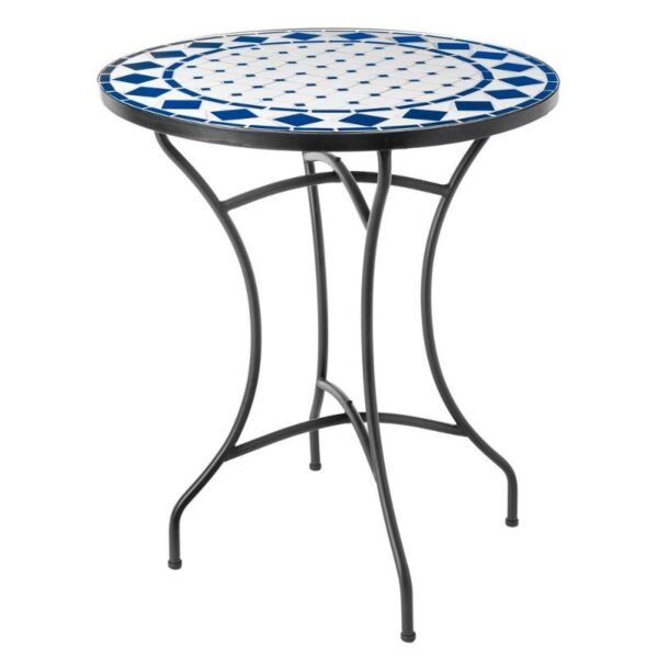 TDW Furniture Algarve Portugal Blue and White Mosaic Table