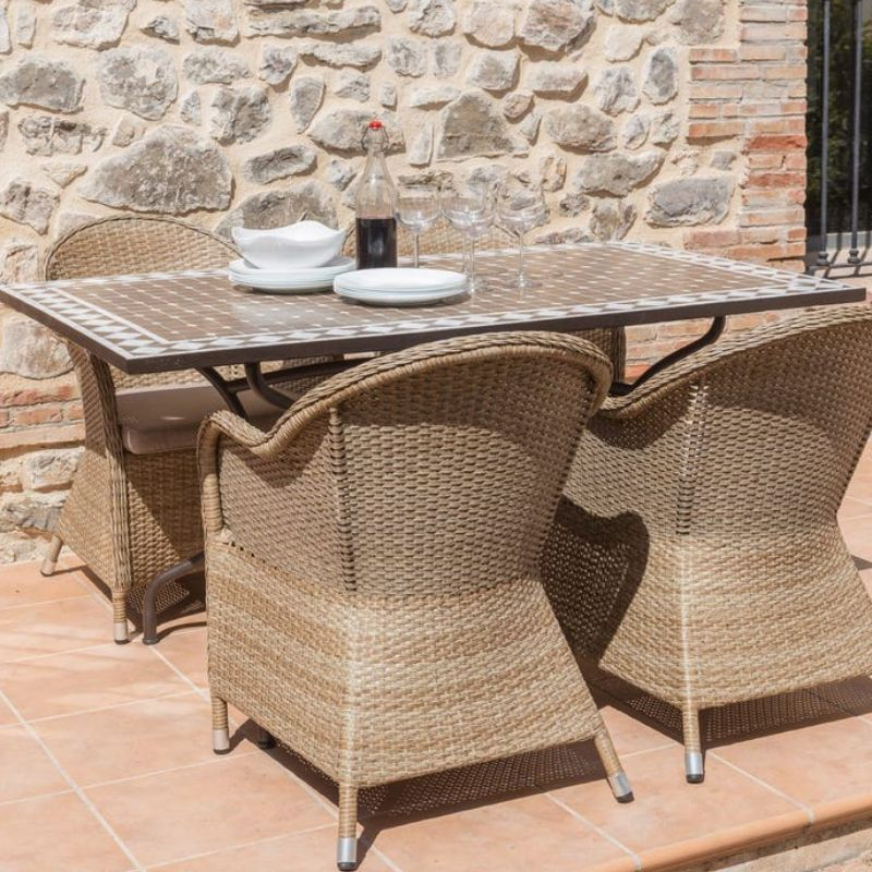 TDW Furniture Algarve Portugal Mosaic Outdoor Dining Table