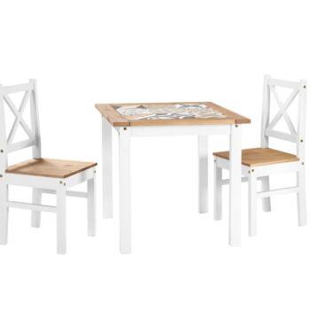 Salvador White Tiled Dining Set