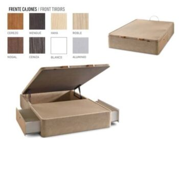 Mixed Storage Bed Upholstered
