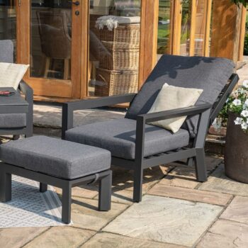 Manhattan Reclining 3 Seat Sofa Set with Fire Pit Table