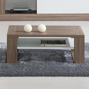 Madrid White/Natural Coffee Table