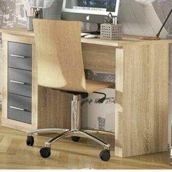 Lara Oak/Graphite Dressing Table